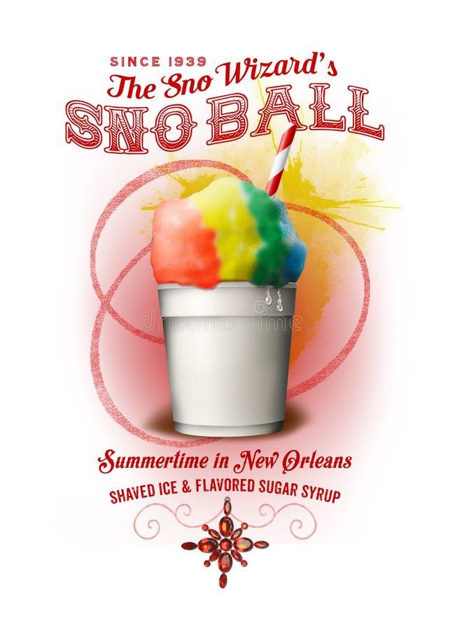 Fondo di NOLA Collection New Orleans Snowball immagini stock libere da diritti