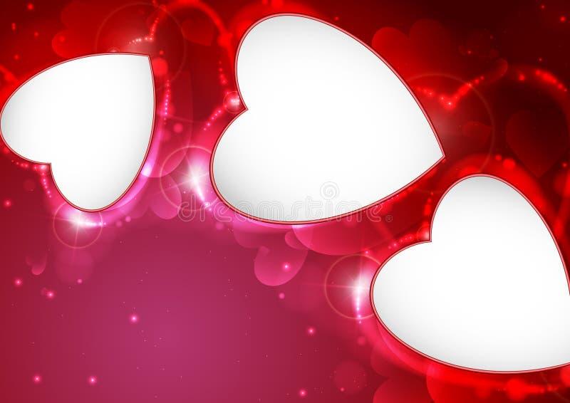 Fondo di nozze o di San Valentino. royalty illustrazione gratis