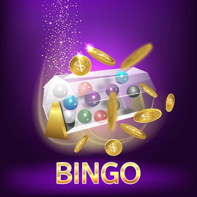 Fondo di numeri delle palle di lotteria di bingo illustrazione di stock