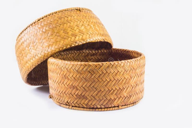 Fondo di oggetto, riso Kratib artigianato dalla Tailandia fotografia stock