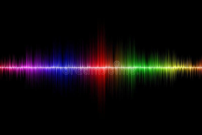 Fondo di onda sonora immagini stock libere da diritti