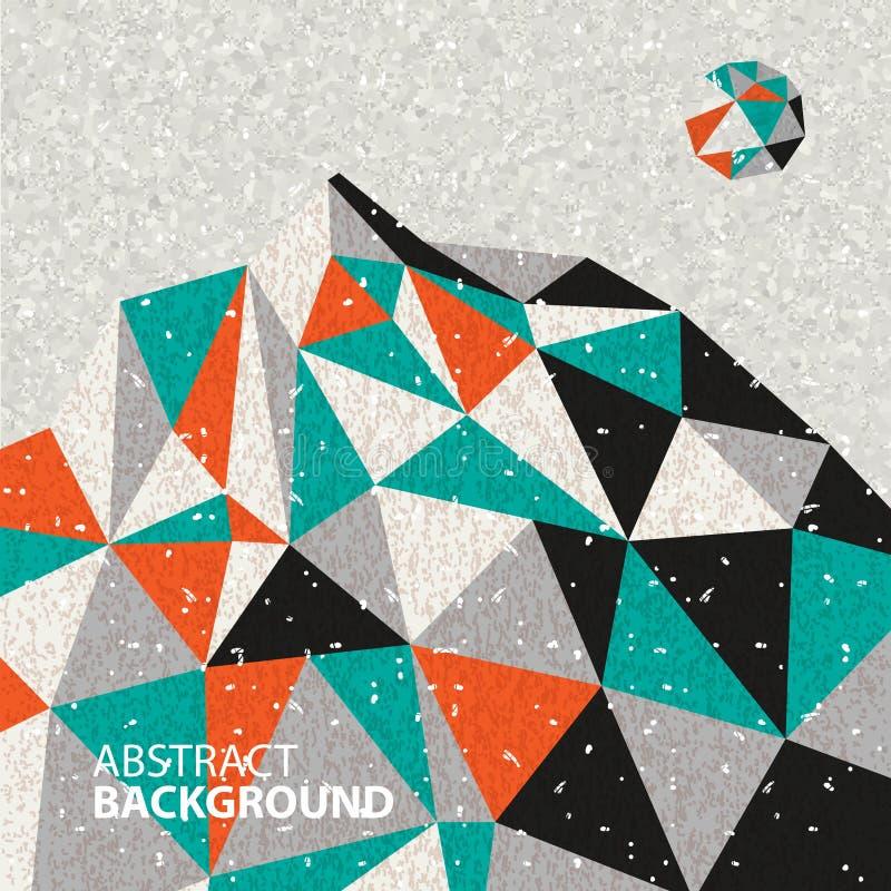 Fondo di paesaggio poligonale, la montagna illustrazione vettoriale