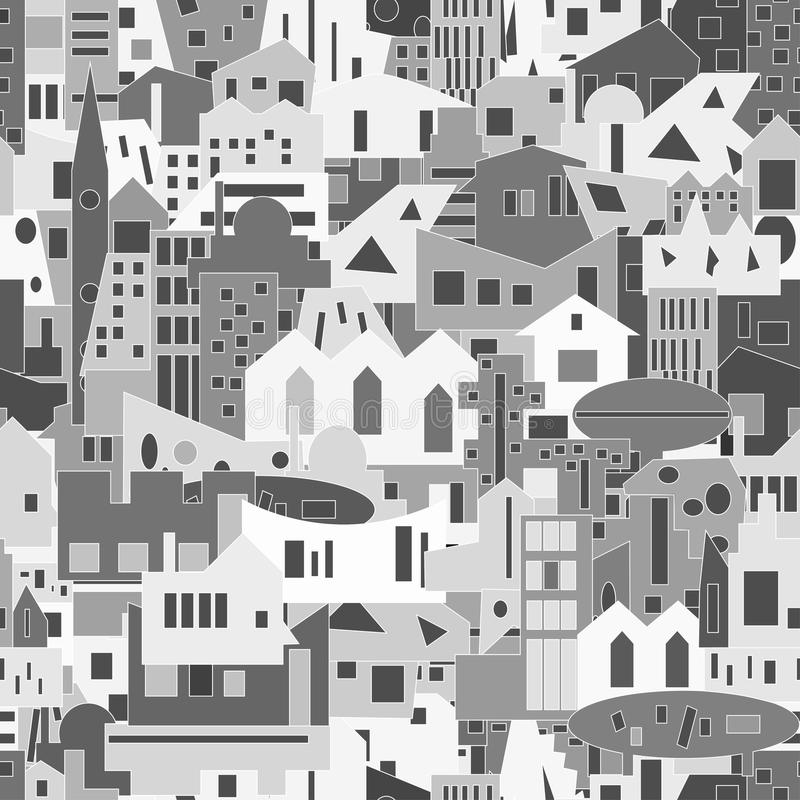 Fondo di paesaggio urbano, modello senza cuciture per la vostra progettazione royalty illustrazione gratis