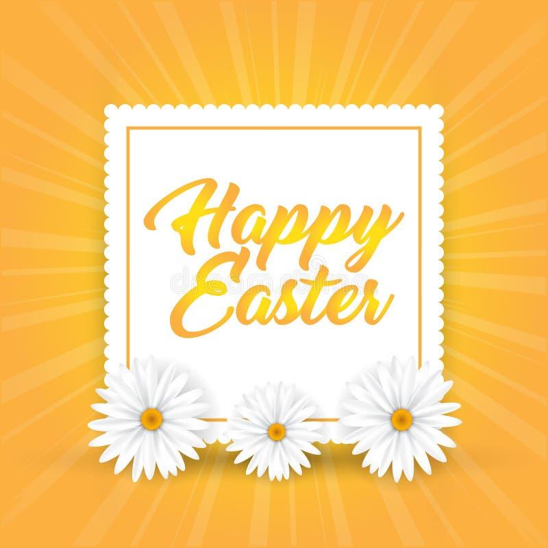 Fondo di Pasqua con le margherite illustrazione di stock