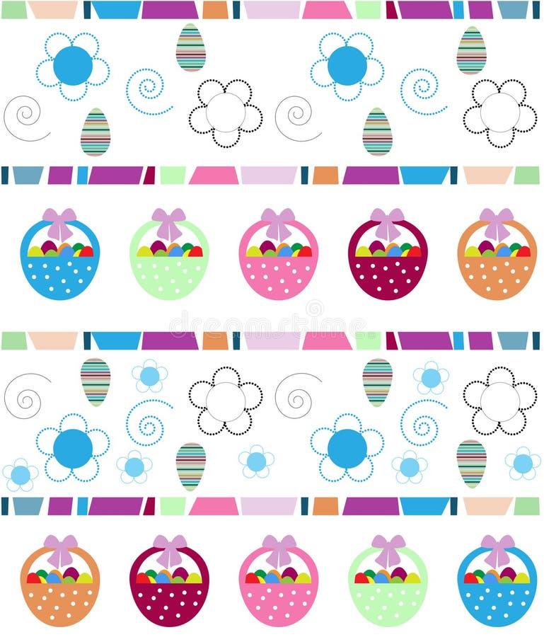 Fondo di Pasqua con le uova royalty illustrazione gratis