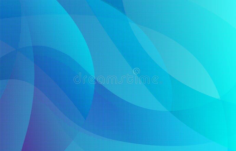 Fondo di pendenza punteggiato semitono blu astratto illustrazione di stock