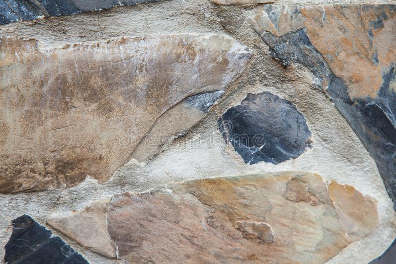 Fondo di pietra della parete del rivestimento fotografia stock libera da diritti
