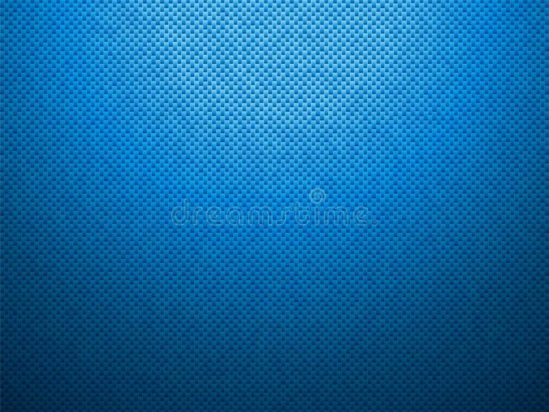 Fondo di plastica blu tratteggiato illustrazione di stock