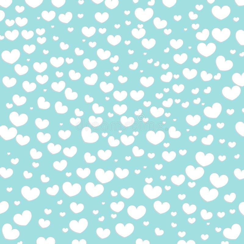 Fondo di progettazione dei cuori Cartolina d'auguri Valentine Day Illustrazione di vettore Reticolo del cuore Coriandoli di cadut royalty illustrazione gratis