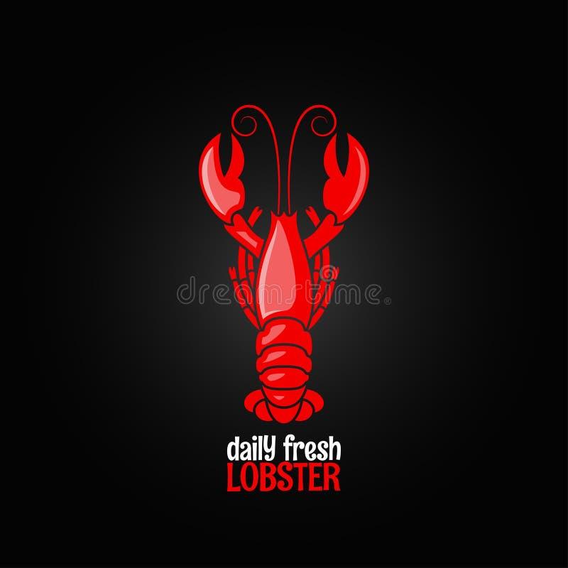 Fondo di progettazione del menu dei frutti di mare dell'aragosta royalty illustrazione gratis