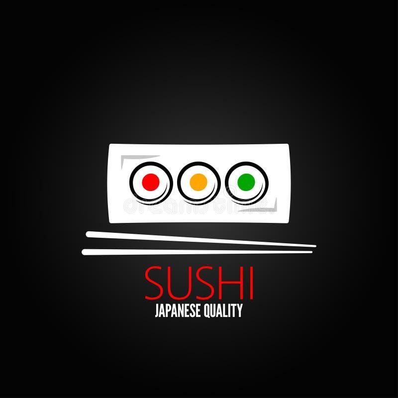 Fondo di progettazione del menu del piatto del rotolo di sushi royalty illustrazione gratis