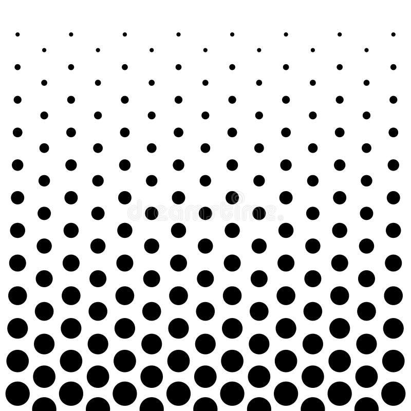 Fondo di progettazione del modello di punti del cerchio in bianco e nero royalty illustrazione gratis