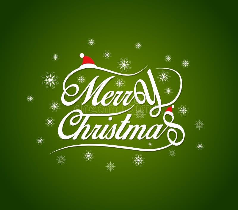 Fondo di progettazione di iscrizione di Buon Natale illustrazione di stock