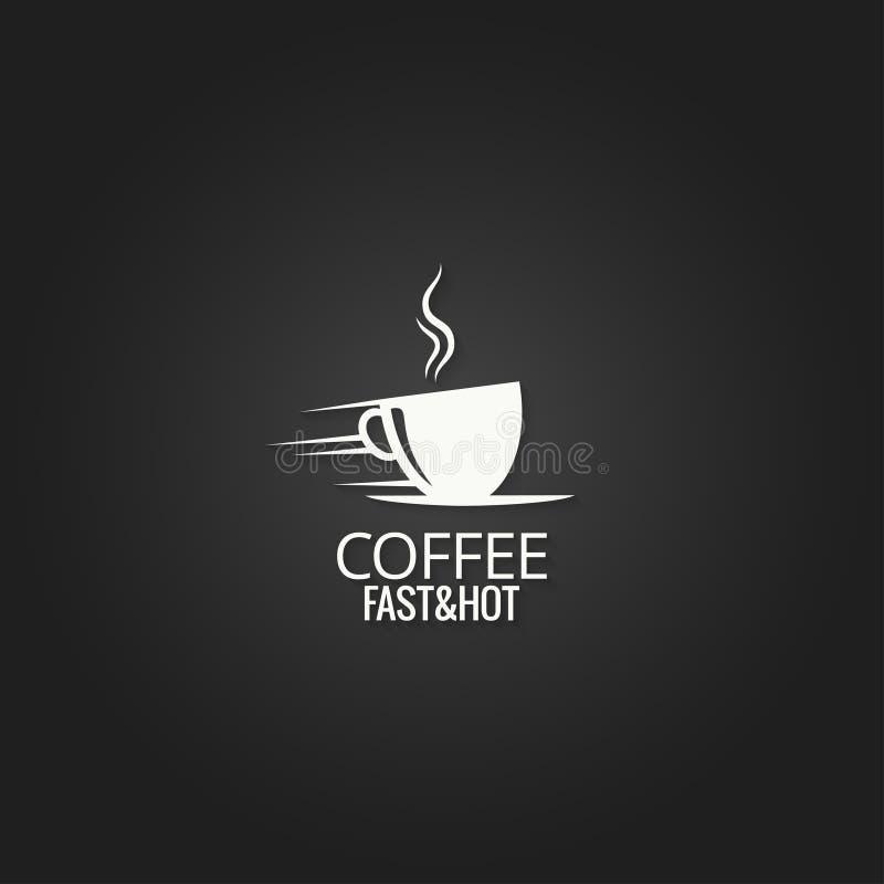 Fondo di progettazione di massima della tazza di caffè royalty illustrazione gratis