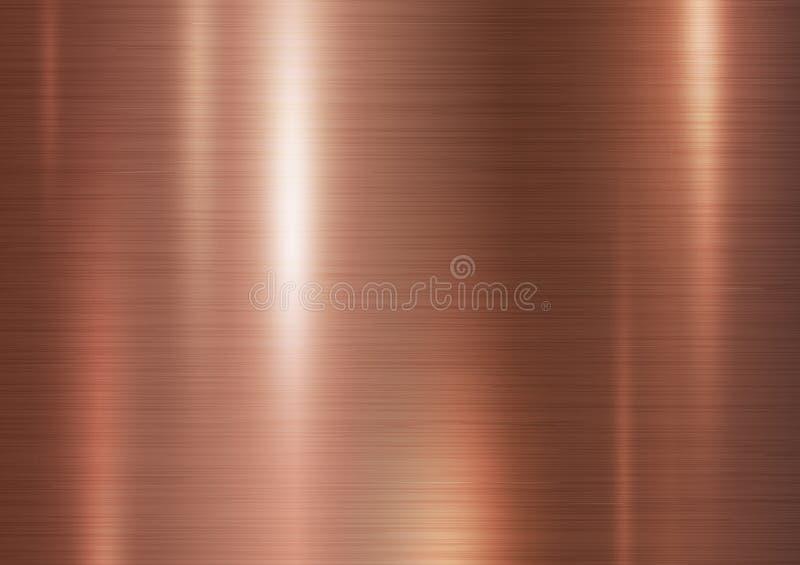 Fondo di rame di struttura del metallo illustrazione vettoriale