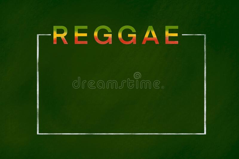 Fondo di reggae fotografia stock