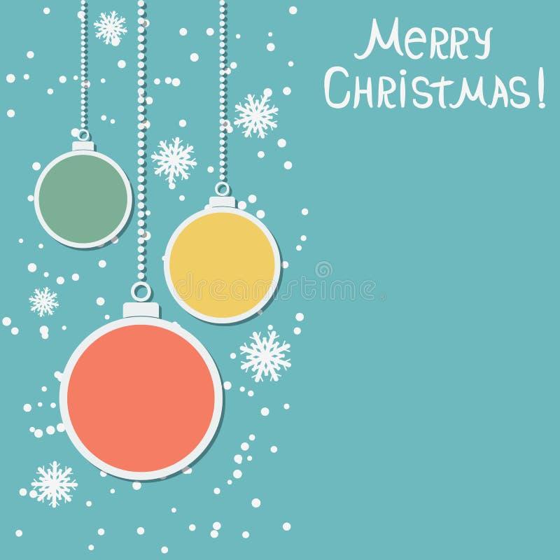 Fondo di retro di stile vettore di Natale e del nuovo anno illustrazione di stock