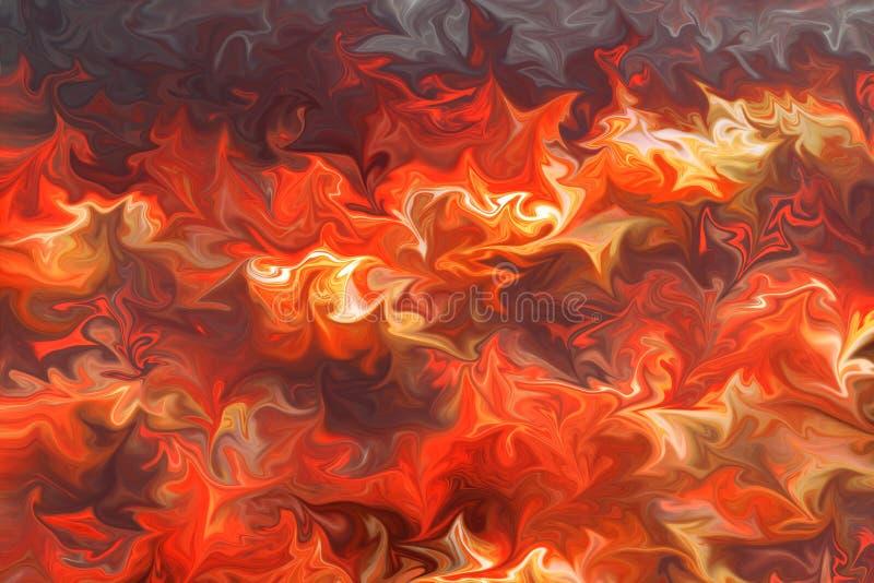 Fondo di ringraziamento, struttura astratta variopinta luminosa Fondo giallo arancio ardente caldo illustrazione vettoriale