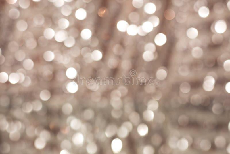 Fondo di rosa pastello di Bokeh con le luci vaghe immagini stock libere da diritti