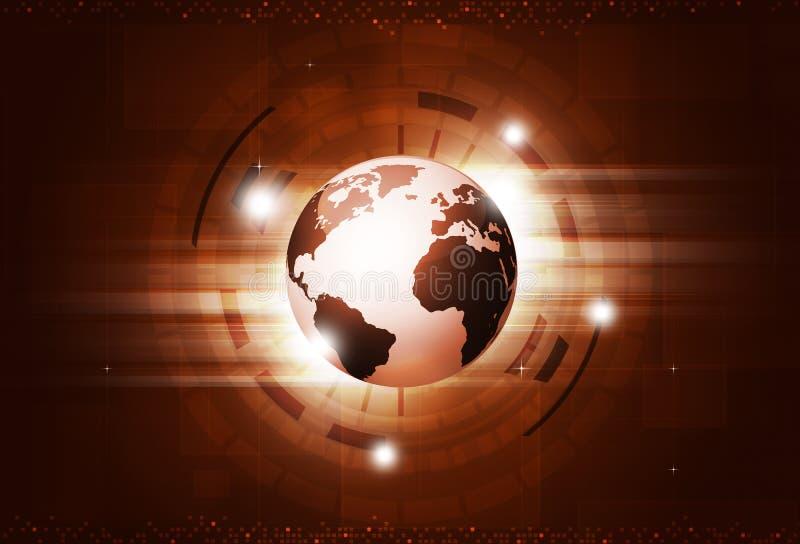 Fondo di rosso di tecnologia digitale royalty illustrazione gratis