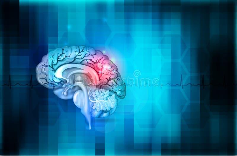 Fondo di salute del cervello illustrazione di stock
