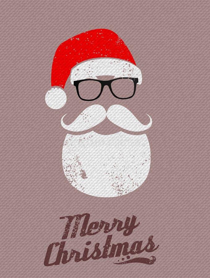 Fondo di Santa di Natale royalty illustrazione gratis