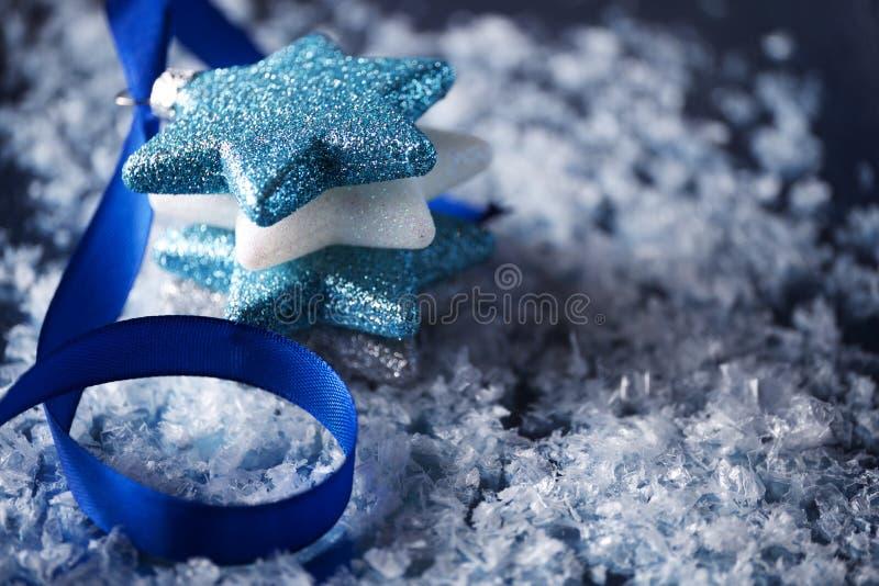 Fondo di scena delle stelle di Natale fotografia stock libera da diritti