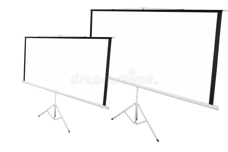 Fondo di schermo per mostrare proiettore fotografia stock