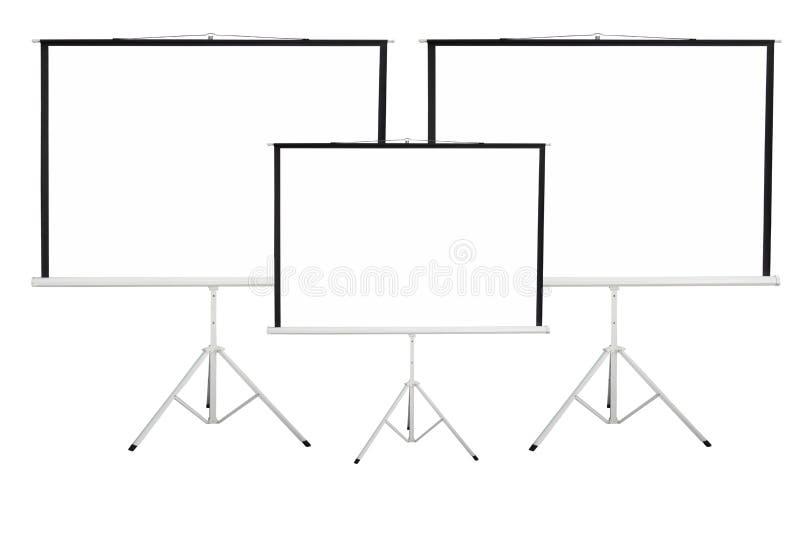 Fondo di schermo per mostrare proiettore immagine stock
