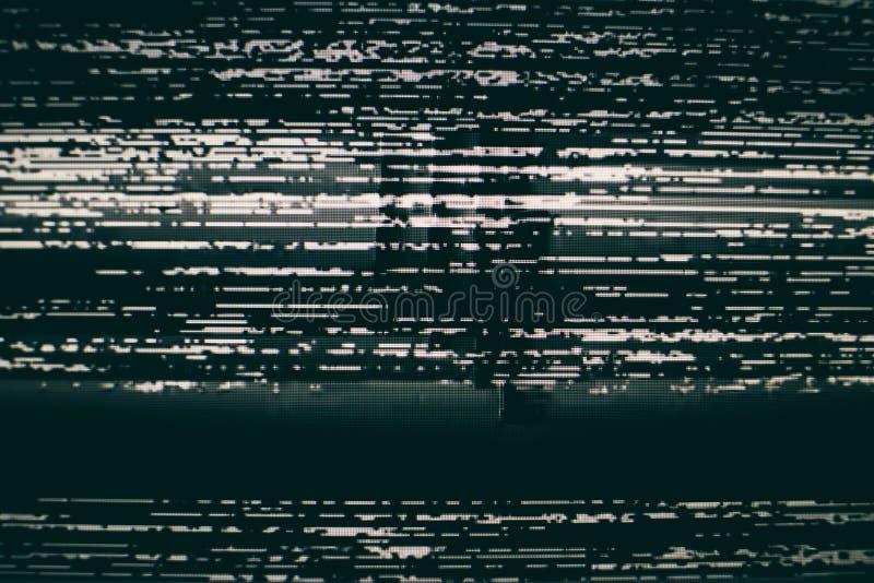 Fondo di schermo statico di VHS immagini stock