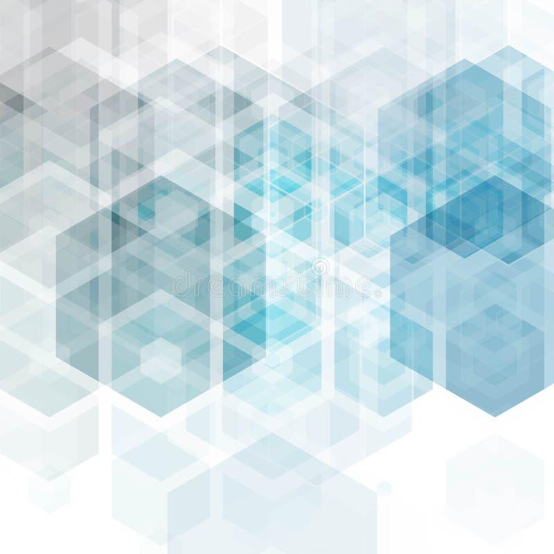 Fondo di scienza astratta di vettore Progettazione geometrica di esagono ENV 10 royalty illustrazione gratis
