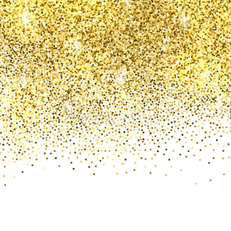 Fondo di scintillio dell'oro royalty illustrazione gratis
