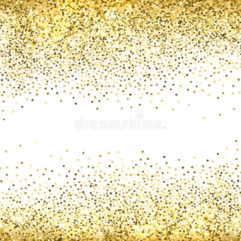 Fondo di scintillio dell'oro illustrazione di stock