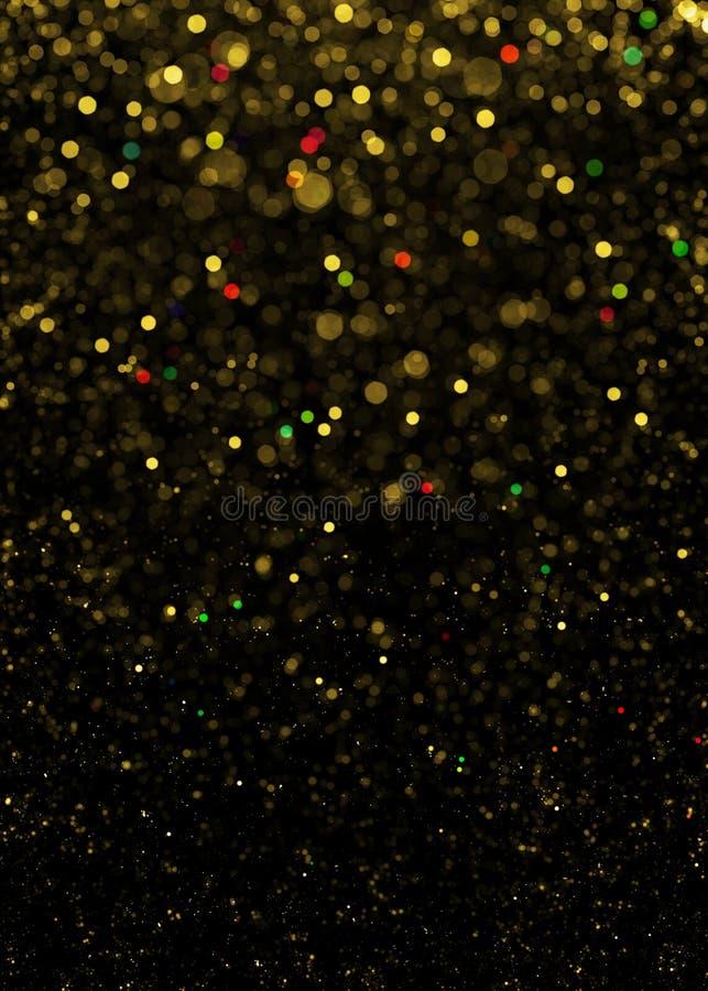 Fondo di scintillio della scintilla dell'oro Lo scintillio Stars il fondo immagini stock libere da diritti