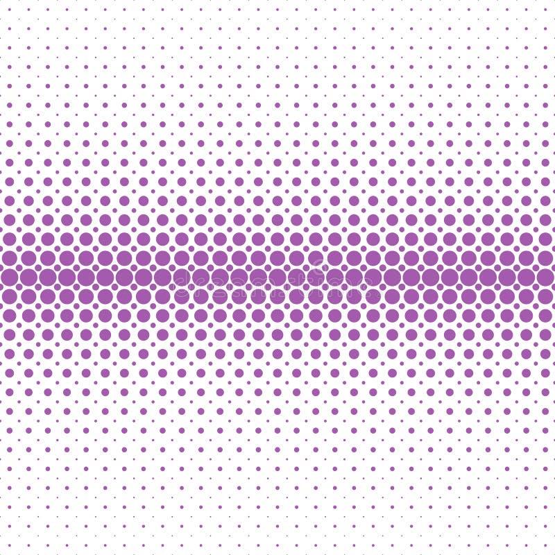 Fondo di semitono astratto geometrico del modello di punto - progettazione grafica di vettore dai cerchi porpora nelle dimensioni illustrazione di stock