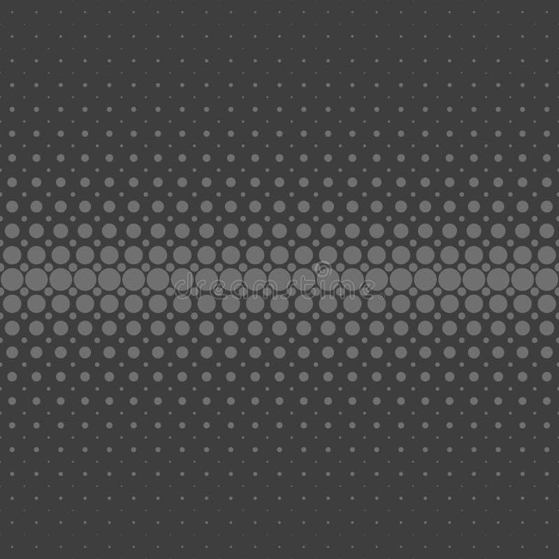 Fondo di semitono astratto grigio del modello di punto - progettazione di vettore dai cerchi nelle dimensioni varianti illustrazione di stock