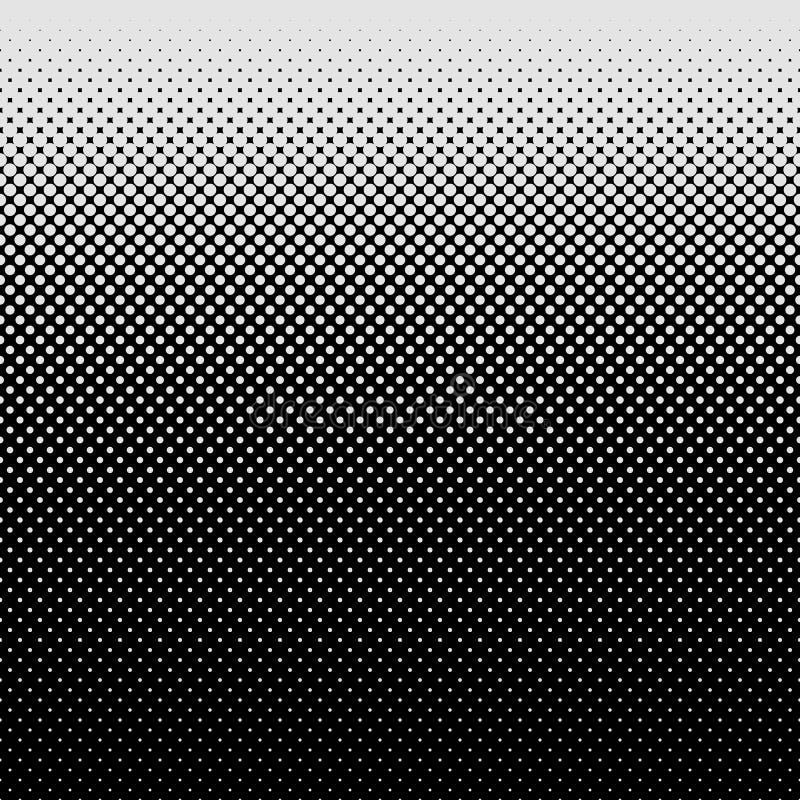 Fondo di semitono del modello di punto - progettazione grafica di vettore dai cerchi nelle dimensioni varianti illustrazione di stock