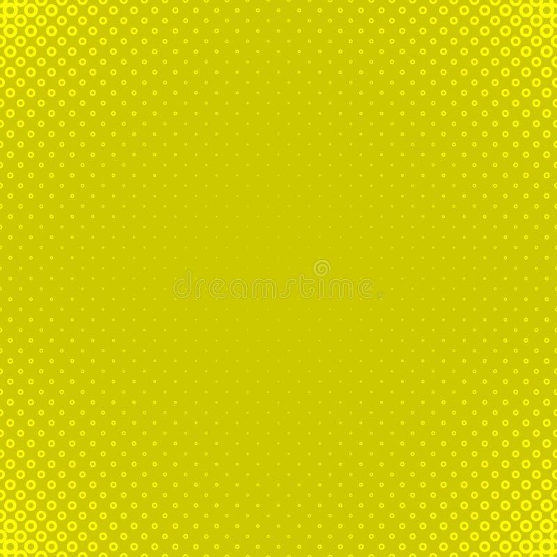 Fondo di semitono giallo del modello del cerchio - progettazione grafica di vettore dagli anelli nelle dimensioni varianti royalty illustrazione gratis