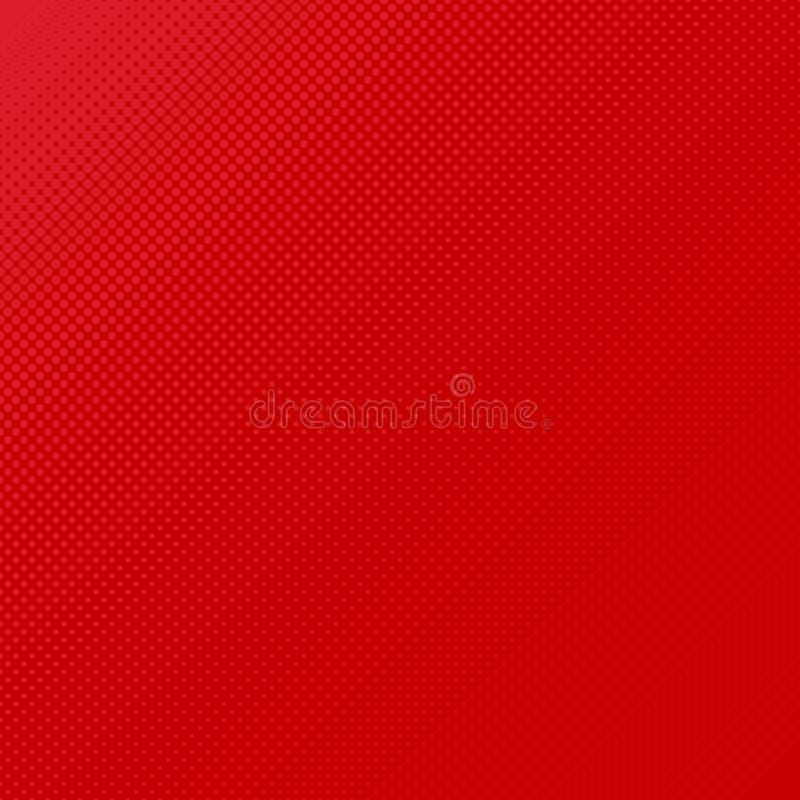 Fondo di semitono rosso del modello di punto - vector la progettazione dai cerchi nelle dimensioni varianti royalty illustrazione gratis