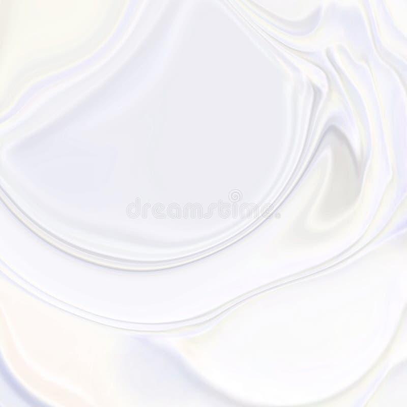 Fondo di seta ondulato di struttura 3d del bianco perla dell'estratto illustrazione vettoriale