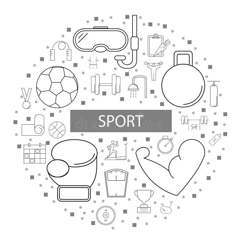 Fondo di sport dalla linea icona illustrazione vettoriale