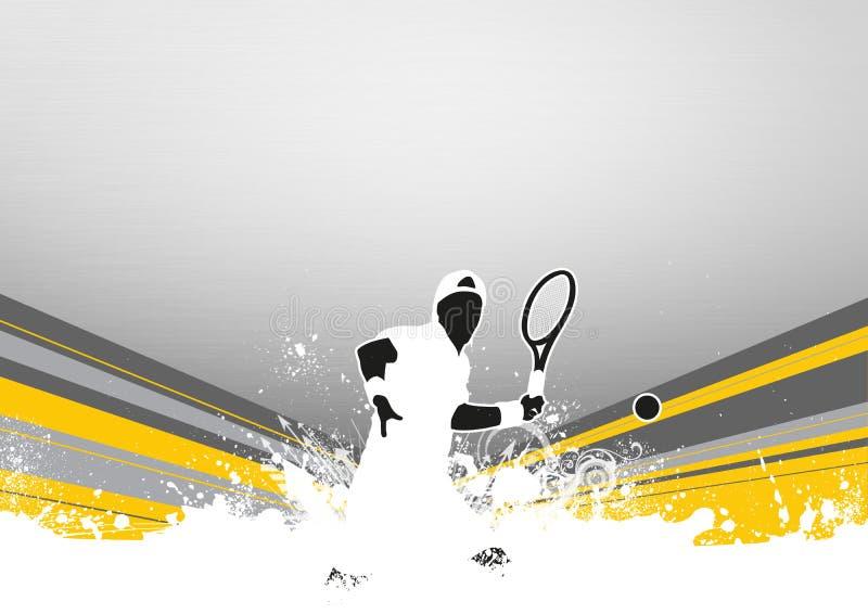 Fondo di sport di tennis illustrazione di stock