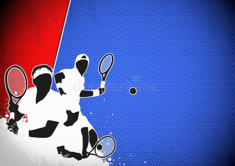 Fondo di sport di tennis royalty illustrazione gratis