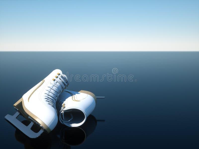 Fondo di sport - pattinaggio su ghiaccio immagini stock libere da diritti