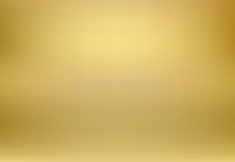 Fondo di stile di pendenza vago oro di vettore Lusso astratto s illustrazione di stock