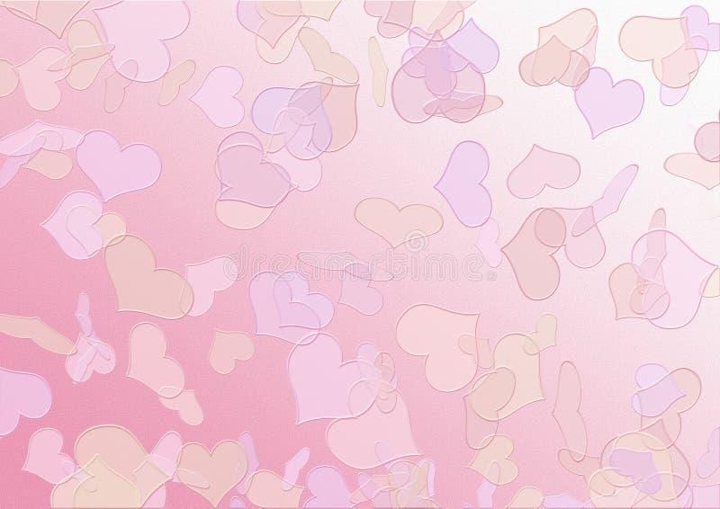 Fondo di struttura dei biglietti di S. Valentino immagini stock