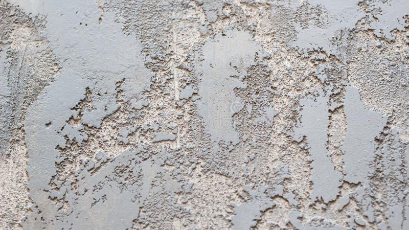Fondo di struttura del muro di cemento di lerciume Stucco blu e grigio di colore fotografia stock libera da diritti