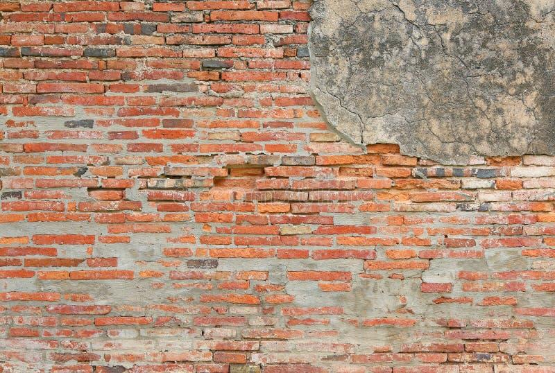 Fondo di struttura del muro di mattoni della crepa fotografie stock libere da diritti