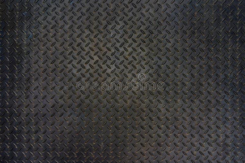 Fondo di struttura del pavimento del piatto del diamante del metallo di lerciume immagini stock