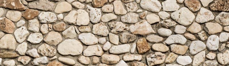 Fondo di struttura della parete di pietra, panorama della muratura fotografia stock